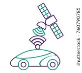 gps navigation satellite help... | Shutterstock .eps vector #760790785