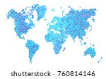 dark blue vector abstract... | Shutterstock .eps vector #760814146