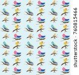 beautiful bird pattern | Shutterstock . vector #760815466