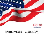 american flag   old glory flag... | Shutterstock .eps vector #76081624