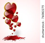 the vector abstract hearts... | Shutterstock .eps vector #76082275