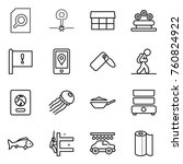 thin line icon set   search...   Shutterstock .eps vector #760824922