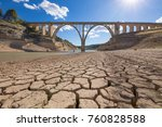 Landscape Of Dry Earth Ground...