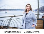 a woman of plus size  american... | Shutterstock . vector #760828996