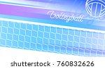 sport banner in vector.... | Shutterstock .eps vector #760832626