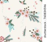 abstract flower seamless... | Shutterstock .eps vector #760834546