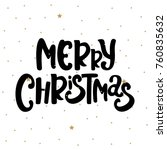 merry christmas text decorated... | Shutterstock .eps vector #760835632