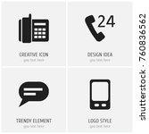 set of 4 editable gadget icons. ...