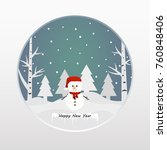 merry christmas and happy new...   Shutterstock .eps vector #760848406
