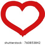 red heart valentine love logo...