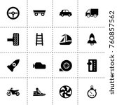 simple 16 set of speed filled... | Shutterstock .eps vector #760857562