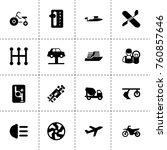 simple 16 set of transport... | Shutterstock .eps vector #760857646