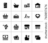 simple 16 set of store filled... | Shutterstock .eps vector #760857676