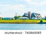 modern biogas factory in bremen ... | Shutterstock . vector #760860085