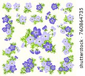floral arrangements in small... | Shutterstock .eps vector #760864735