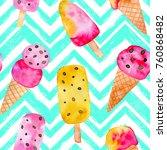 watercolor seamless pattern... | Shutterstock . vector #760868482