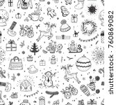 merry christmas background....   Shutterstock .eps vector #760869082