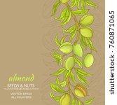 almond vector background | Shutterstock .eps vector #760871065