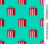 christmas gifts seamless... | Shutterstock . vector #760886212