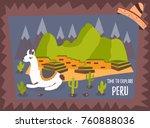 concept tourist poster of peru... | Shutterstock .eps vector #760888036