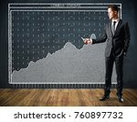 handsome european businessman... | Shutterstock . vector #760897732