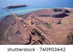 Loading iron Ore on a ship at Dampier Western Australia.
