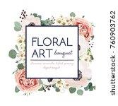 vector floral card design ...   Shutterstock .eps vector #760903762