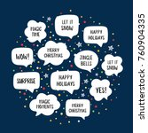 Holiday Speech Bubbles Set With ...