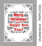 merry christmas and happy new... | Shutterstock .eps vector #760911016