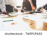 business people analyzing... | Shutterstock . vector #760919632