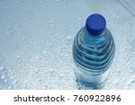 a bottle of pure water on water ... | Shutterstock . vector #760922896
