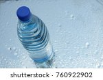 a bottle of pure water on water ... | Shutterstock . vector #760922902