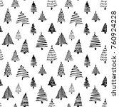 christmass tree seamless... | Shutterstock .eps vector #760924228