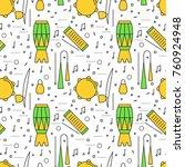 brazilian capoeira music... | Shutterstock .eps vector #760924948