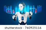 the robot with artificial... | Shutterstock .eps vector #760925116