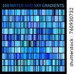water and sky blue gradients... | Shutterstock . vector #760930732