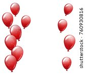 flying red balloons on the... | Shutterstock .eps vector #760930816
