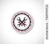 auto service logo template.... | Shutterstock .eps vector #760934932