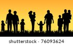 young people with children | Shutterstock . vector #76093624
