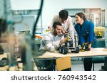 young students of robotics... | Shutterstock . vector #760943542