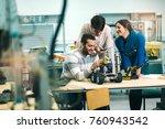 young students of robotics... | Shutterstock . vector #760943542