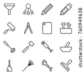 thin line icon set   funnel ... | Shutterstock .eps vector #760949638