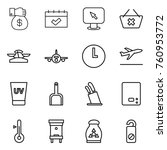 thin line icon set   money gift ... | Shutterstock .eps vector #760953772