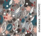 seamless floral pattern.... | Shutterstock .eps vector #760954492