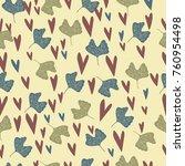 seamless floral pattern.... | Shutterstock .eps vector #760954498