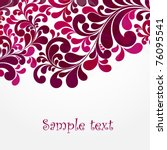 abstract floral background. | Shutterstock .eps vector #76095541