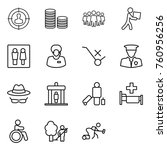 thin line icon set   target... | Shutterstock .eps vector #760956256