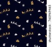 christmas seamless pattern... | Shutterstock .eps vector #760969465