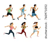people running icons | Shutterstock .eps vector #760971052
