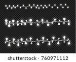 christmas lights isolated on... | Shutterstock .eps vector #760971112